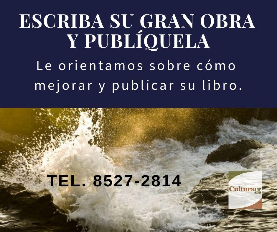 Publique su libro con Editorial CulturaCR.