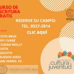 Matricule curso gratuito de escritura creativa en comunidades alejadas del país