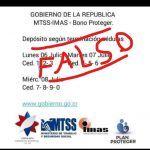 #Quenolemientan Es falso que Bono Proteger se pague con número de cédula estos días